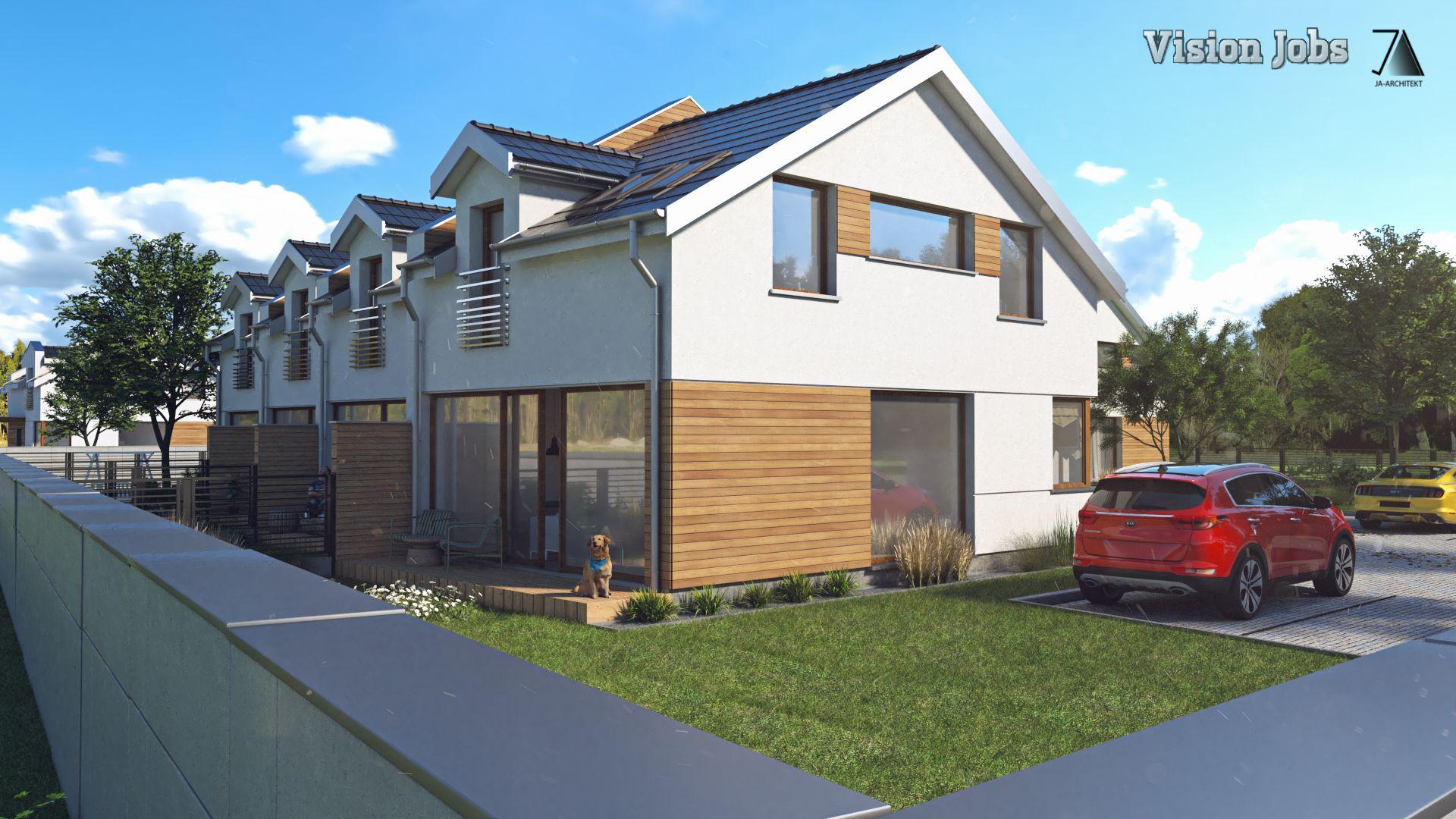 Wysoki standard wykończenia, każde mieszkanie z ogrodem i drewnianym tarasem